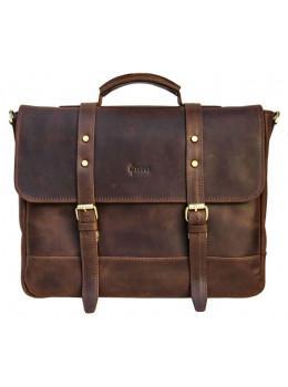 Коричневий шкіряний портфель TARWA RC-0001-4lx