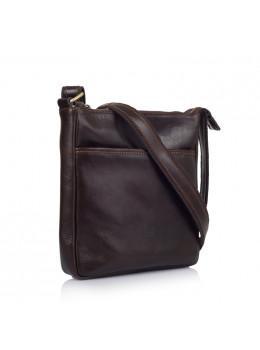 Коричневая кожаная сумка через плечо VIRGINIA CONTI (ИТАЛИЯ) - VCM01278 Brown