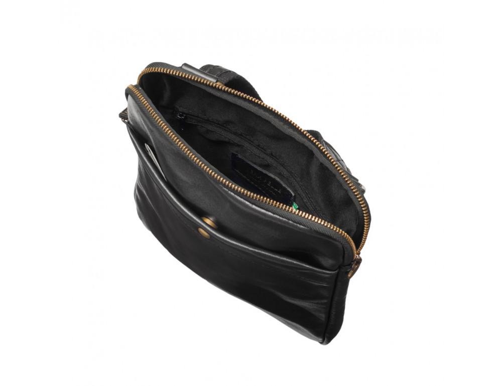 Мужская сумка через плечо VIRGINIA CONTI (ИТАЛИЯ) - VCM01349 Black - Фото № 5