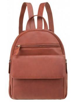 Коричневий шкіряний рюкзак Visconti 1433 BRN Gina