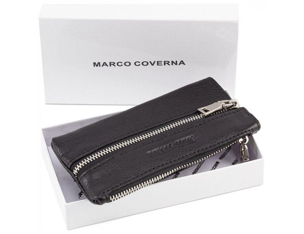 Чёрная кожаная ключница Marco Coverna 017-1 - Фото № 5