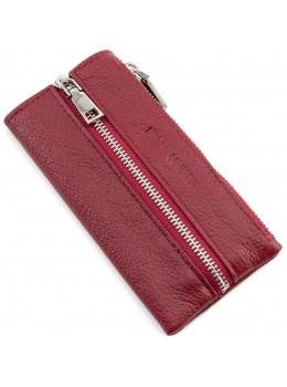 Бордовая кожаная ключница-кошелёк Marco Coverna 017-4