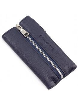 Синяя кожаная ключница Marco Coverna 017-5