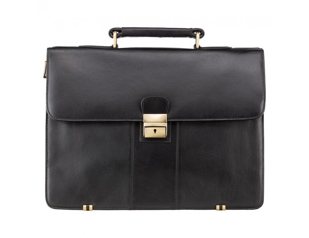 Кожаный портфель Visconti 01775 - Warwick (black)