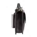 Чёрная кожаная барсетка Visconti 02617 BLK - Фото № 103