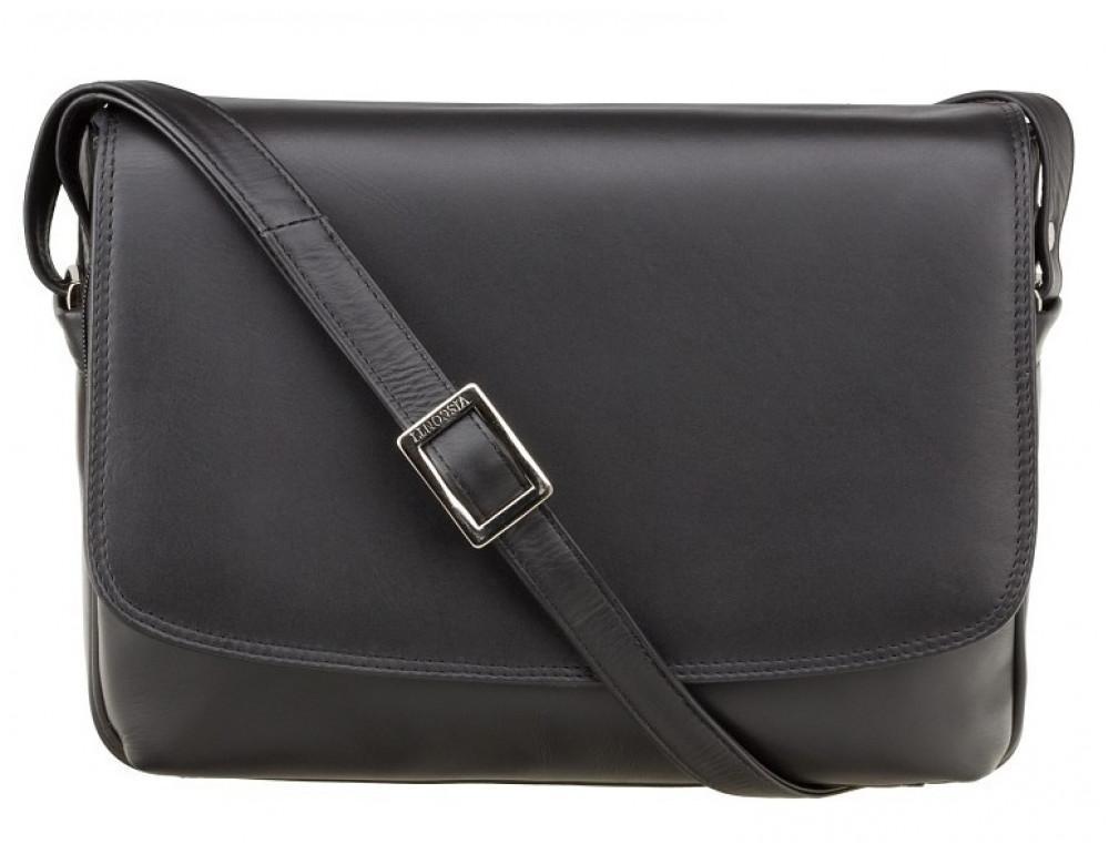 Чёрная женская кожаная сумка Visconti 3190 BLK Claudia - Фото № 1
