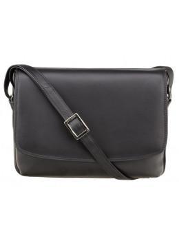 Чёрная женская кожаная сумка Visconti 3190 BLK Claudia