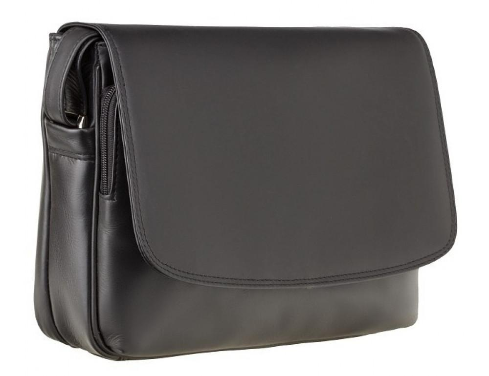 Чёрная женская кожаная сумка Visconti 3190 BLK Claudia - Фото № 3