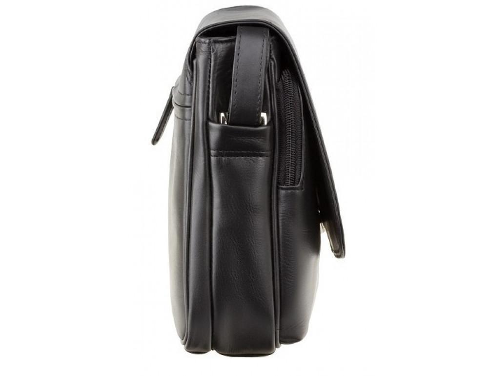 Чёрная женская кожаная сумка Visconti 3190 BLK Claudia - Фото № 4