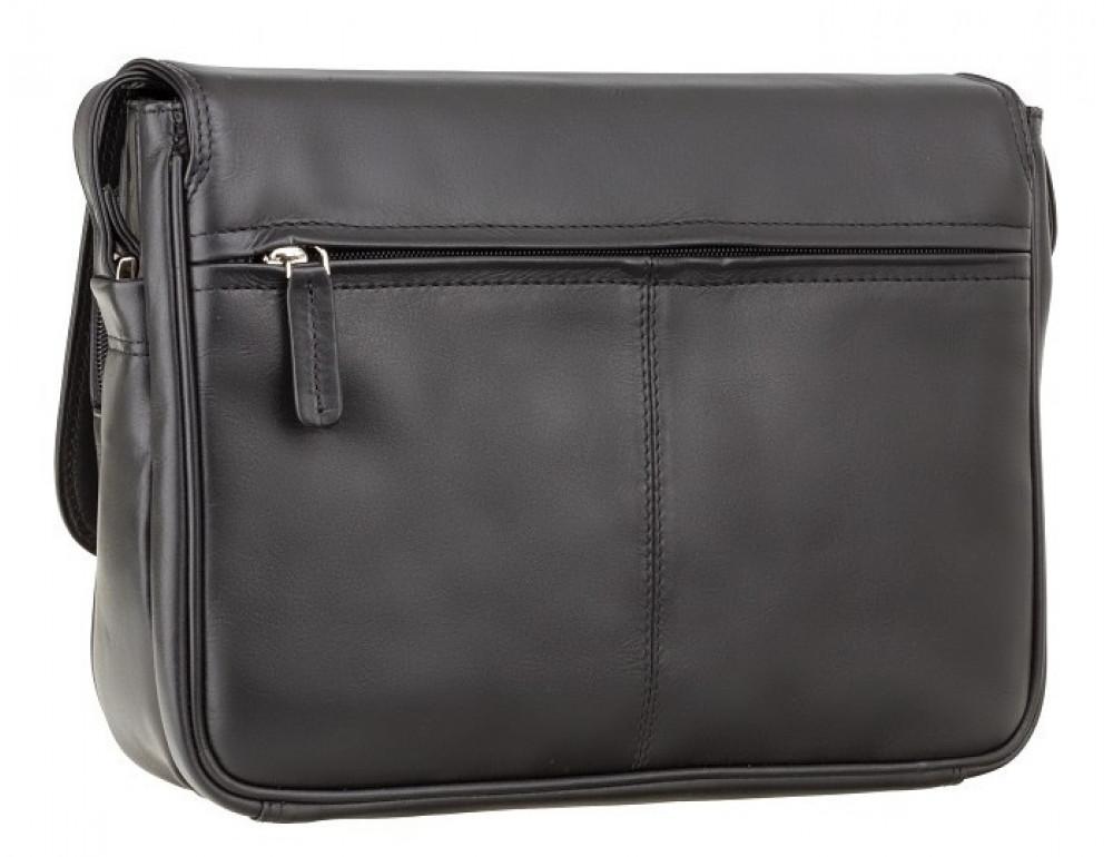 Чёрная женская кожаная сумка Visconti 3190 BLK Claudia - Фото № 5