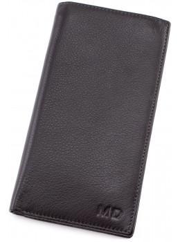 Горизонтальний чоловічий портмоне MD Leather Collection MC 0887 Black