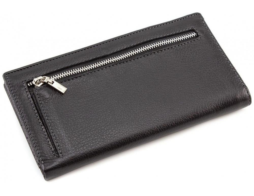 Горизонтальный мужской портмоне MD Leather Collection MC 0887 Black - Фото № 3