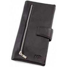 Чорний шкіряний клатч-купьюрнік MD Leather Collection 0889A