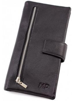 Чёрный кожаный клатч-купьюрник MD Leather Collection 0889A