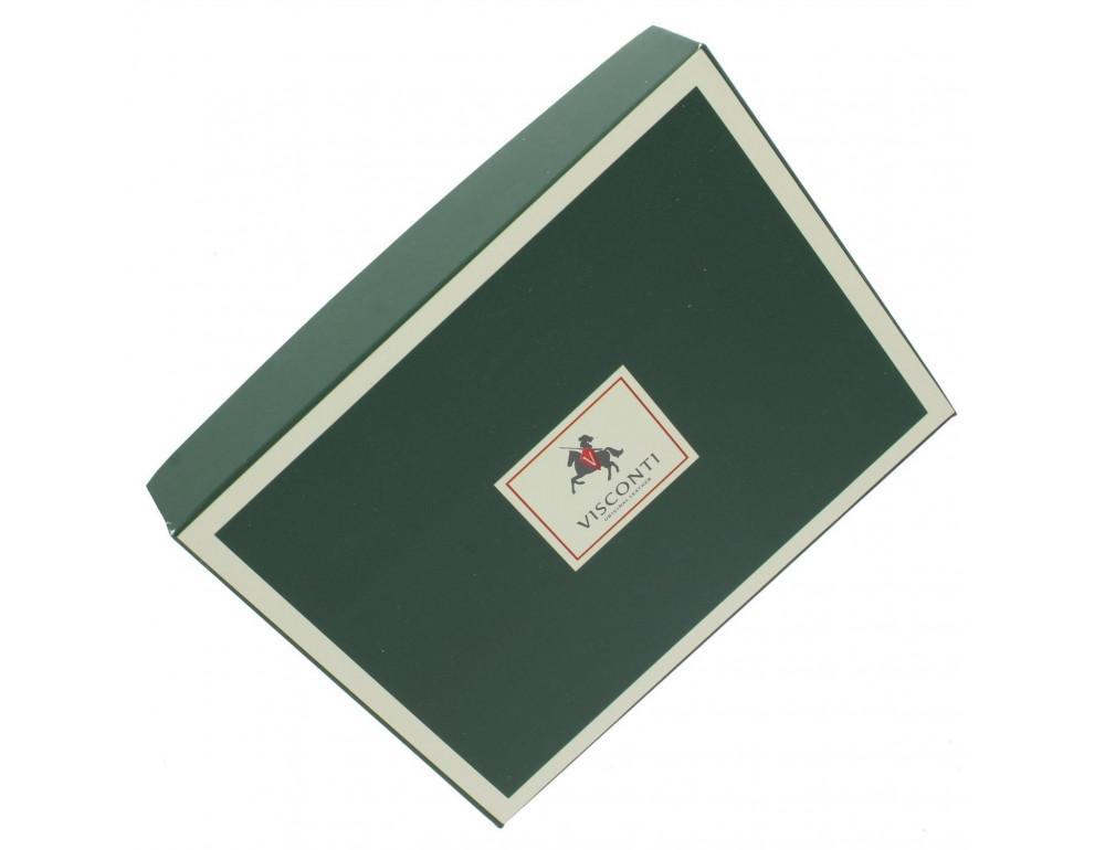 Тёмно-коричневый кожаный кошелёк женский Visconti HT30 CHOC Kew c RFID - Фото № 5