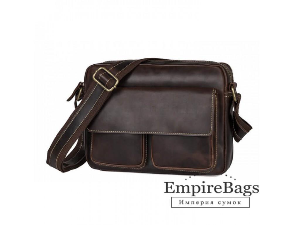 Мужская кожаная почтальонка Tiding Bag 1039B - Фото № 1