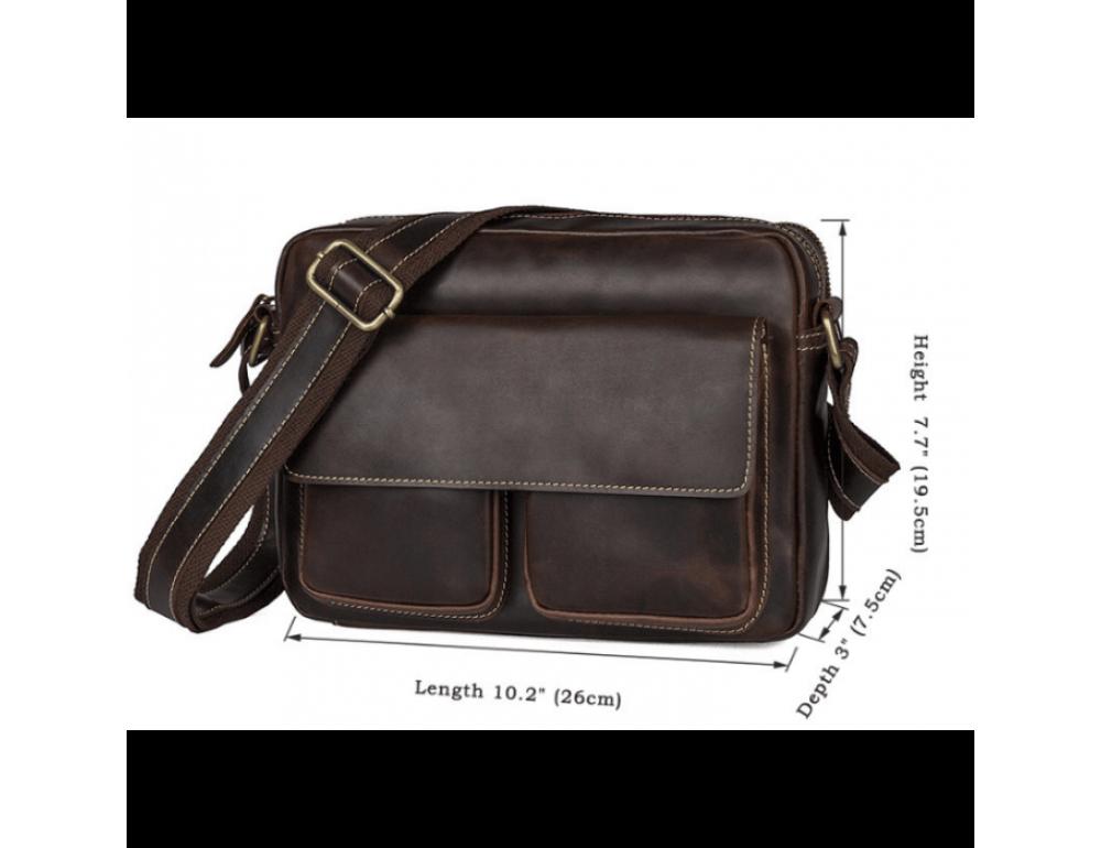 Мужская кожаная почтальонка Tiding Bag 1039B - Фото № 5