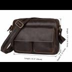 Мужская кожаная почтальонка Tiding Bag 1039B - Фото № 104