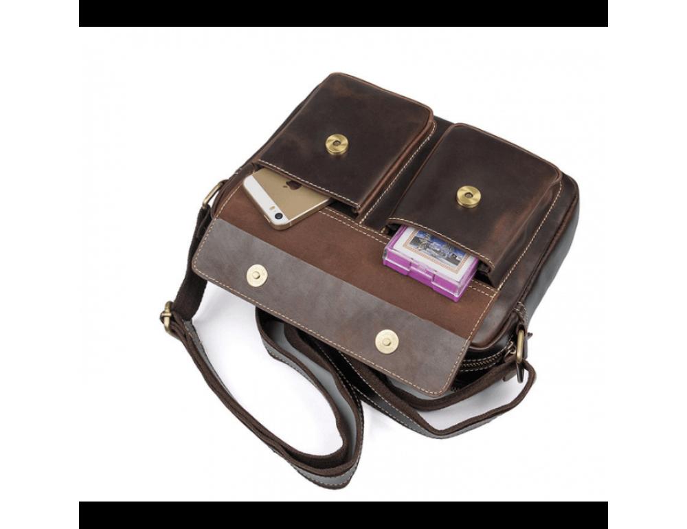 Мужская кожаная почтальонка Tiding Bag 1039B - Фото № 6