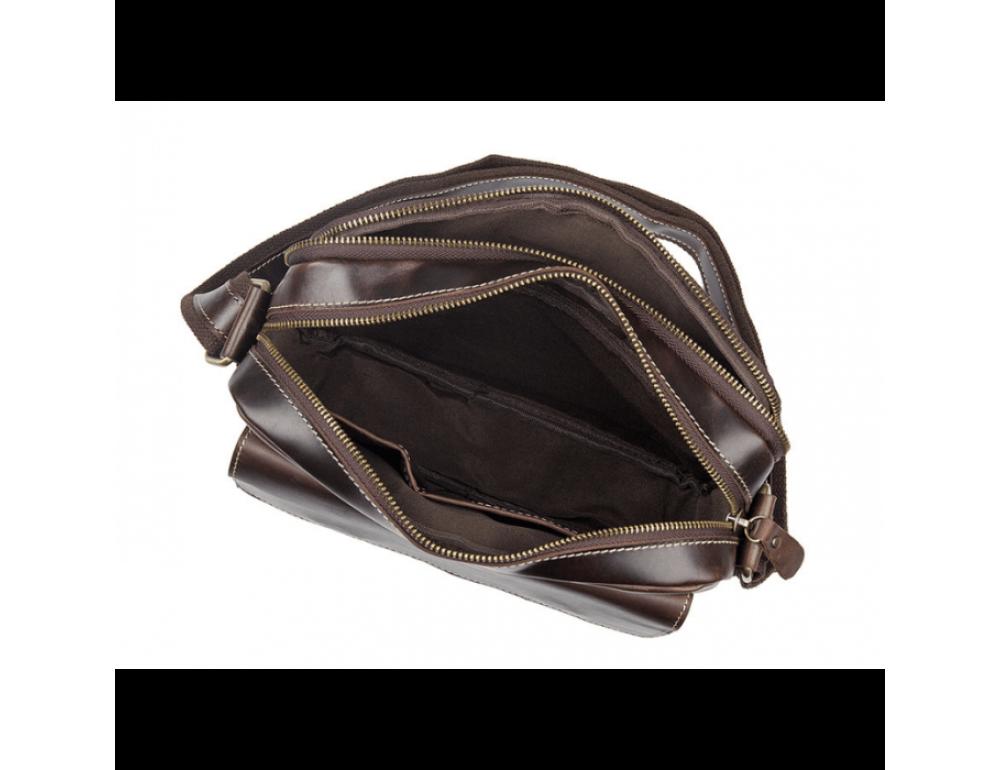 Мужская кожаная почтальонка Tiding Bag 1039B - Фото № 7