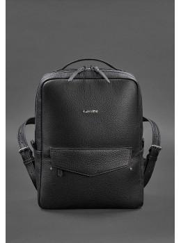 Чорний жіночий шкіряний рюкзак Blancnote BN-BAG-19-ONYX
