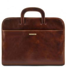 Коричневая кожаная сумка под ноутбук Tuscany Leather Sorrento TL141022 Brown
