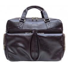 Коричневая мужская кожаная сумка Newery N0021GC