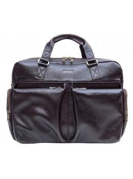 Коричнева чоловіча шкіряна сумка Newery N0021GC