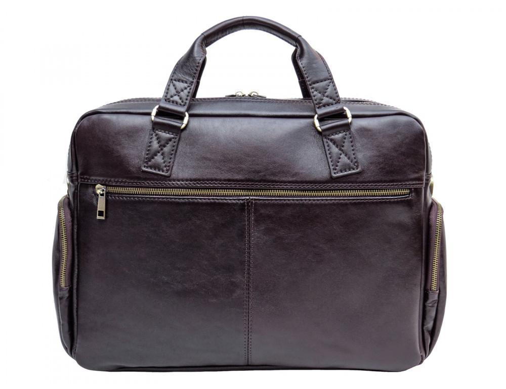 Коричневая мужская кожаная сумка Newery N0021GC - Фото № 2