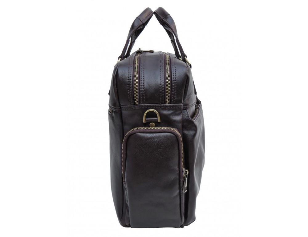 Коричневая мужская кожаная сумка Newery N0021GC - Фото № 3