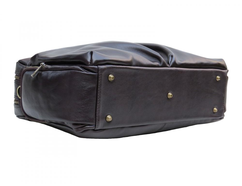 Коричневая мужская кожаная сумка Newery N0021GC - Фото № 5