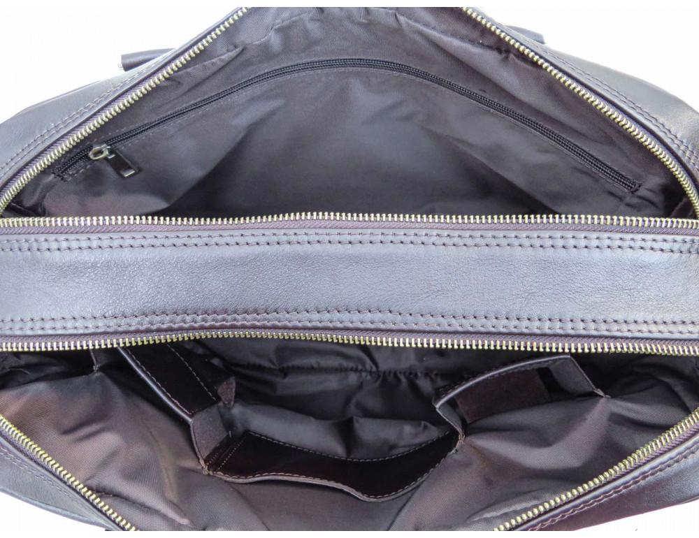 Коричневая мужская кожаная сумка Newery N0021GC - Фото № 8