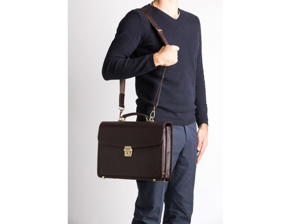 Мужской кожаный портфель Newery N1104GC - Фото № 2