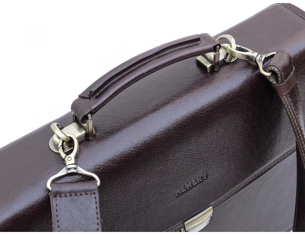 Мужской кожаный портфель Newery N1104GC - Фото № 5