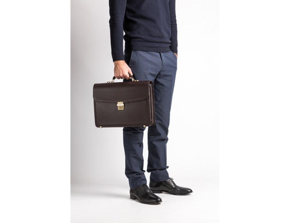 Мужской кожаный портфель Newery N1104GC - Фото № 9