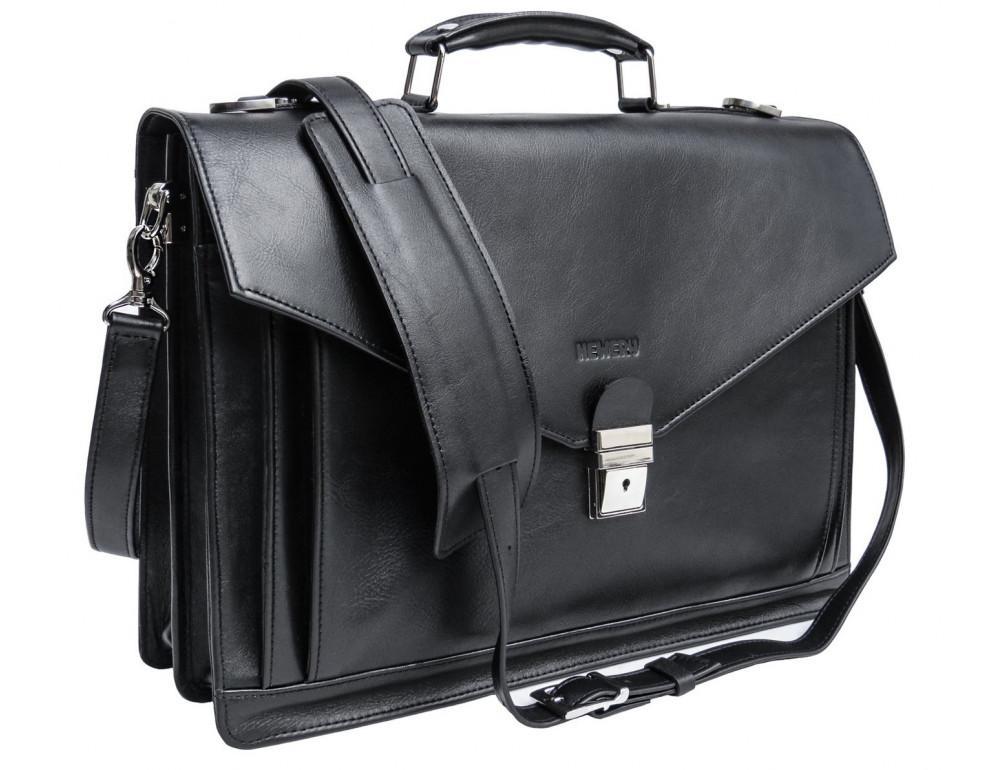 Мужской мягкий портфель из телячьей кожи Newery N4572GA - Фото № 1