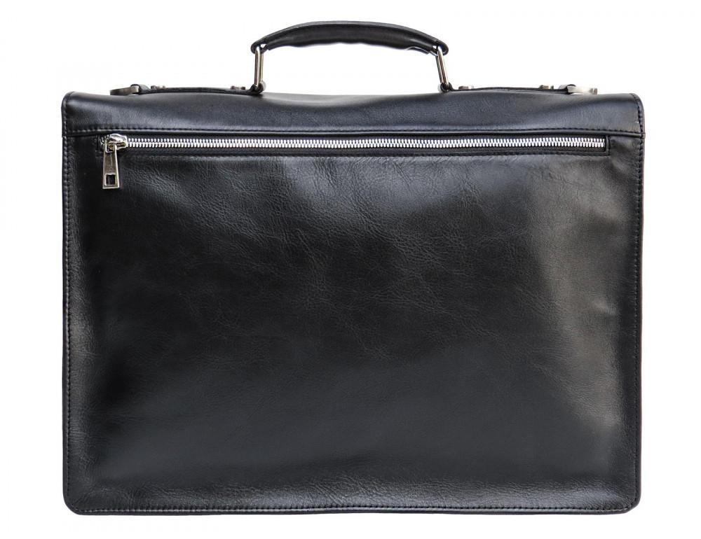 Мужской мягкий портфель из телячьей кожи Newery N4572GA - Фото № 3