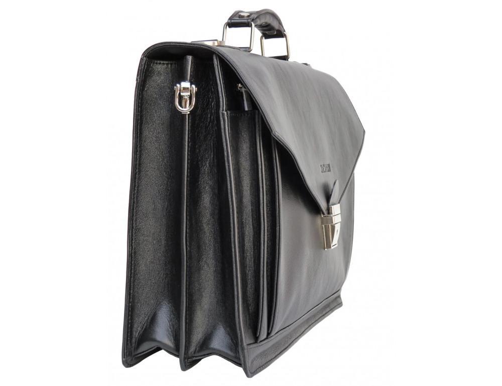 Мужской мягкий портфель из телячьей кожи Newery N4572GA - Фото № 5