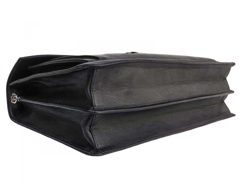 Мужской мягкий портфель из телячьей кожи Newery N4572GA - Фото № 6