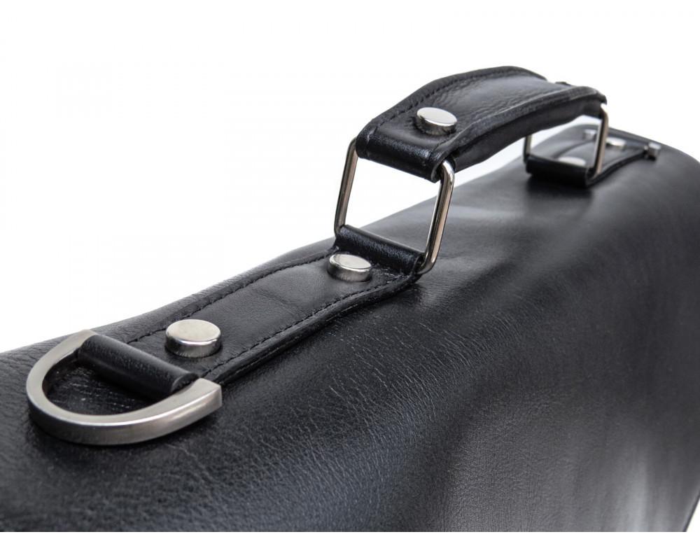 Мужской мягкий портфель из телячьей кожи Newery N4572GA - Фото № 8