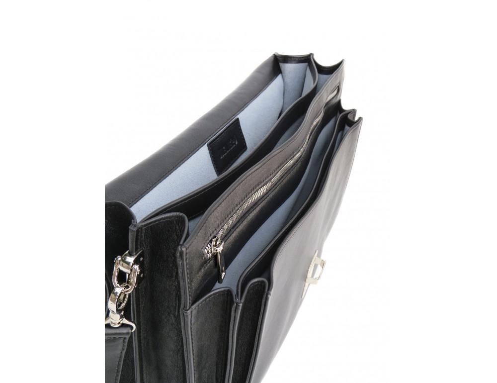 Мужской мягкий портфель из телячьей кожи Newery N4572GA - Фото № 9