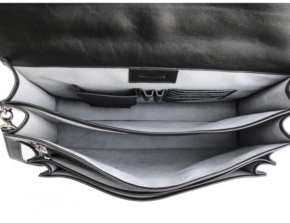 Мужской мягкий портфель из телячьей кожи Newery N4572GA - Фото № 10