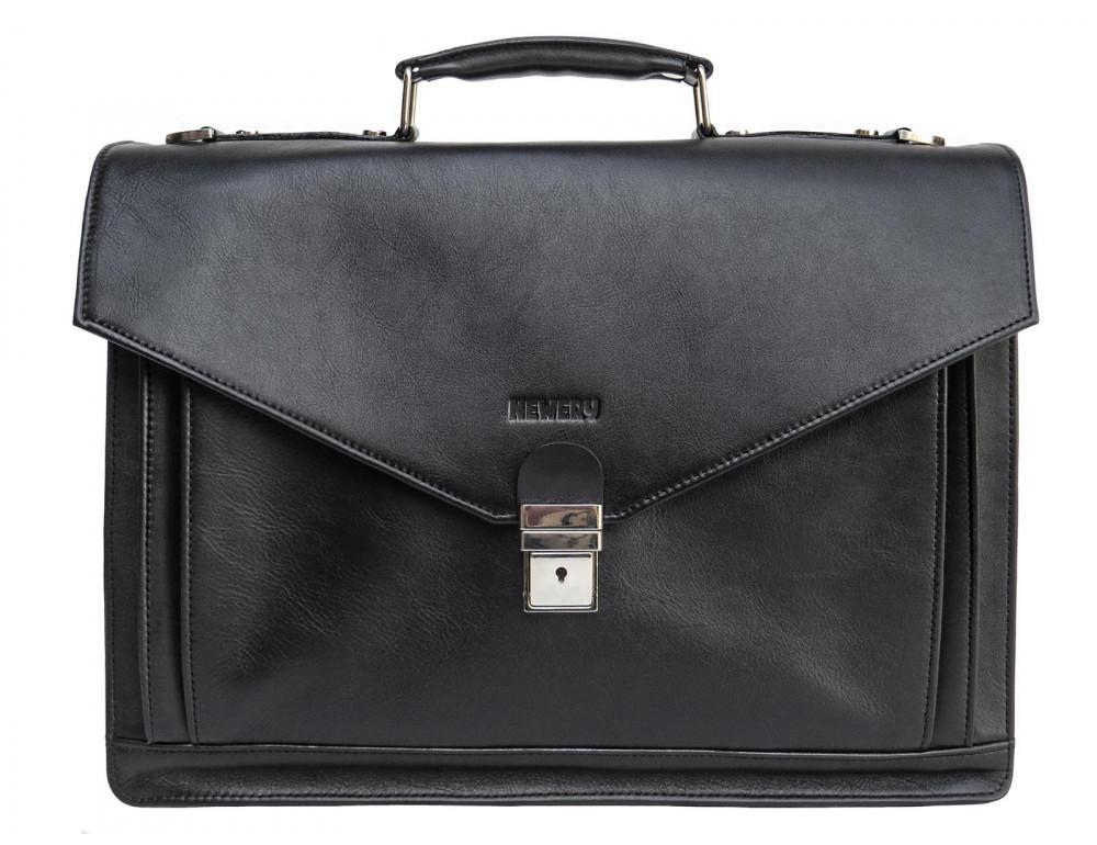 Мужской мягкий портфель из телячьей кожи Newery N4572GA - Фото № 11