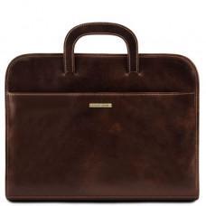 Тёмно-коричневый портфель на одно отделение Tuscany Leather Sorrento TL141022 Dark Brown