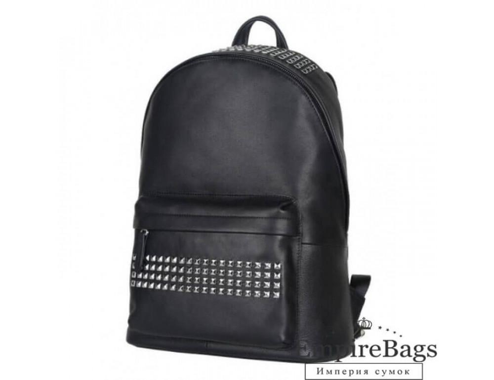 Міський шкіряний рюкзак Tiding Bag B3-011A чорний