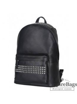 Городской кожаный рюкзак Tiding Bag B3-011A чёрный