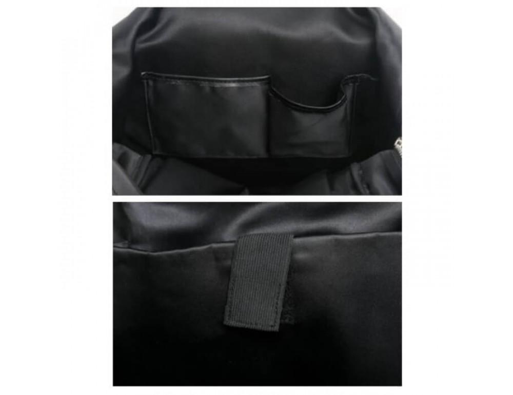 Городской кожаный рюкзак Tiding Bag B3-011A чёрный - Фото № 12