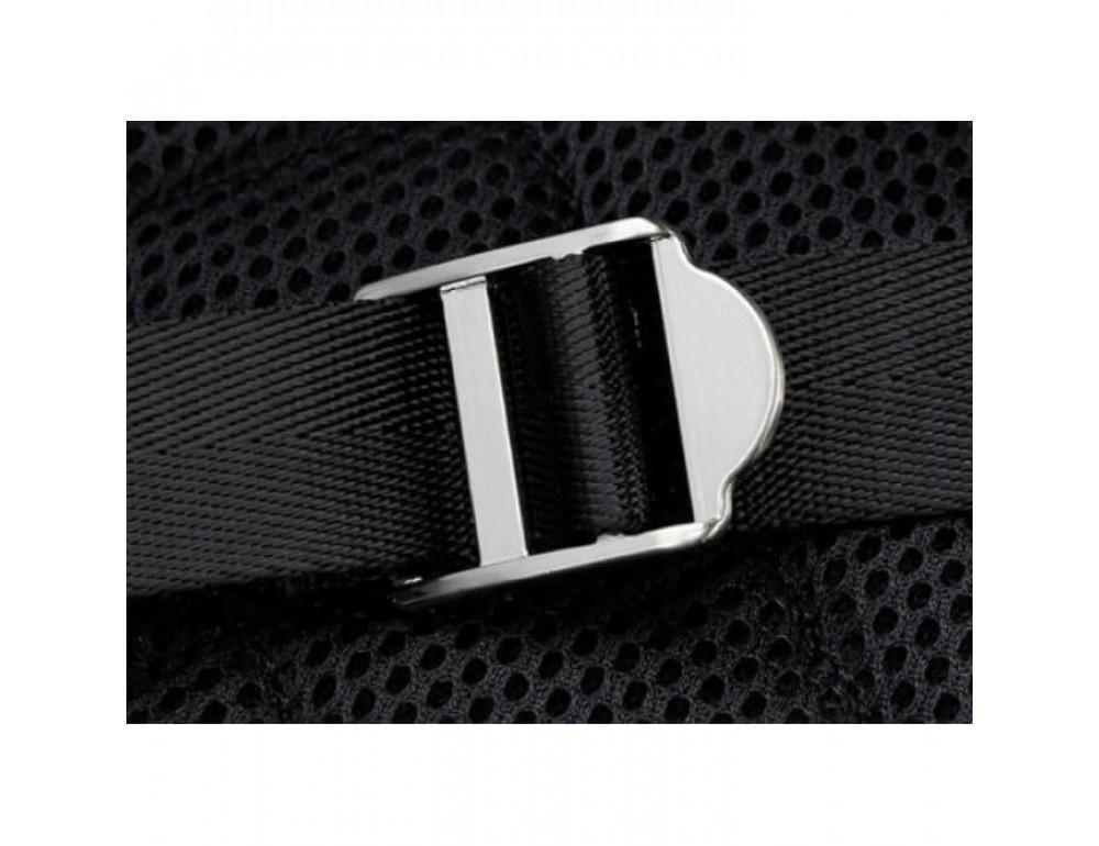 Городской кожаный рюкзак Tiding Bag B3-011A чёрный - Фото № 6
