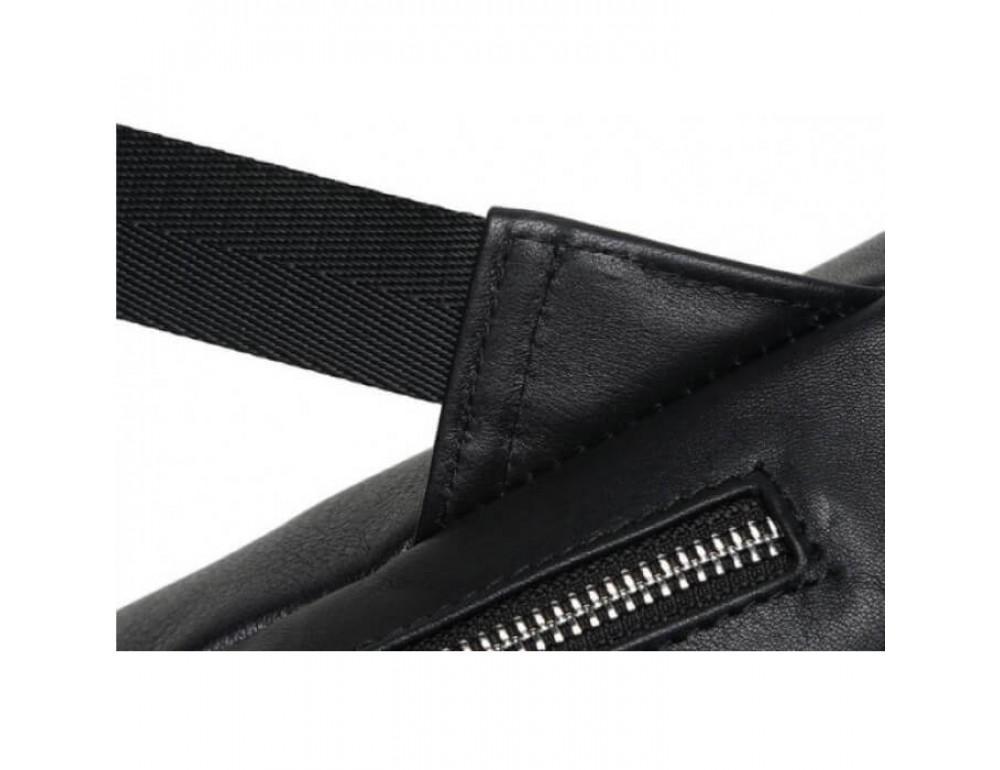 Городской кожаный рюкзак Tiding Bag B3-011A чёрный - Фото № 5