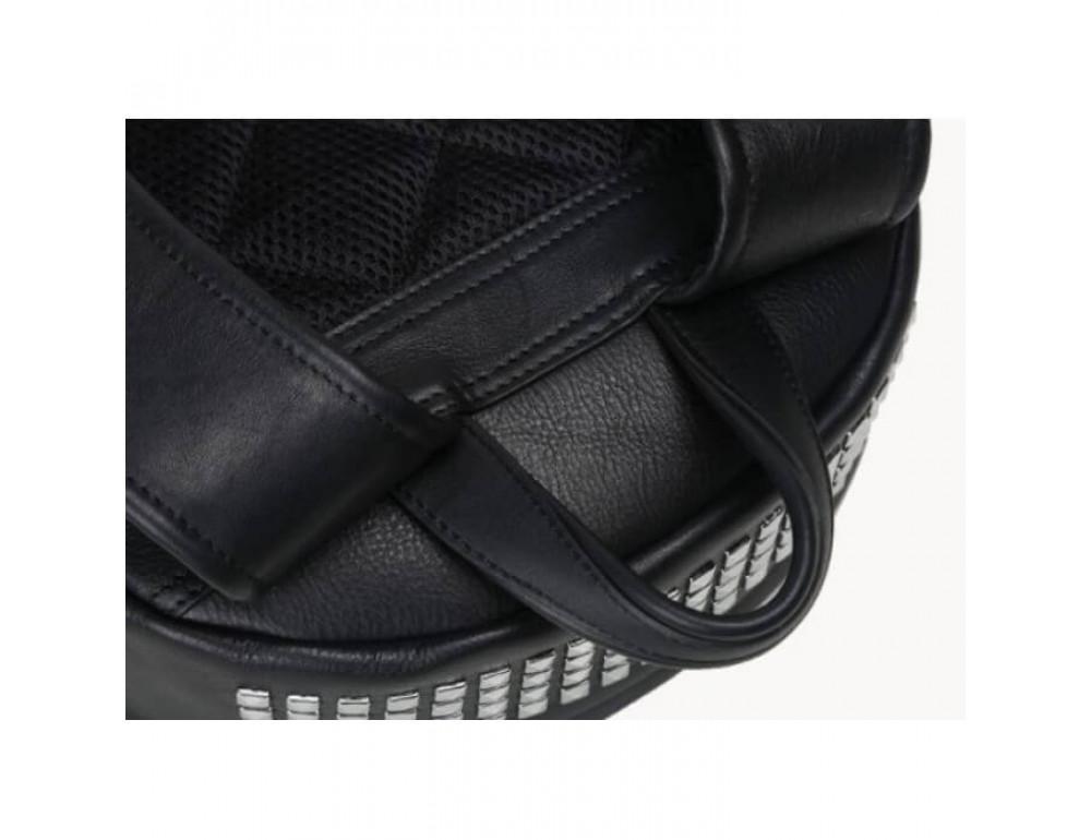 Городской кожаный рюкзак Tiding Bag B3-011A чёрный - Фото № 4